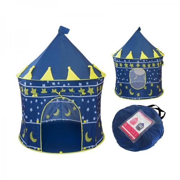 Игровой домик палатка Замок, синяя