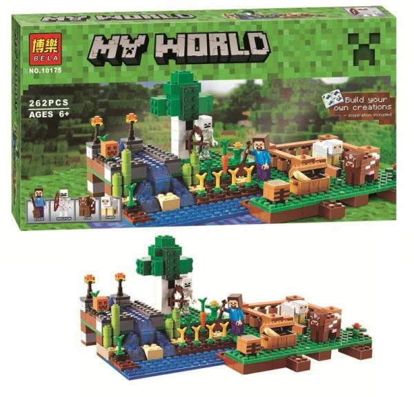 "Конструктор Minecraft ""Ферма"", 262 детали, арт. 10175 (аналог Lego Minecraft 21114)"