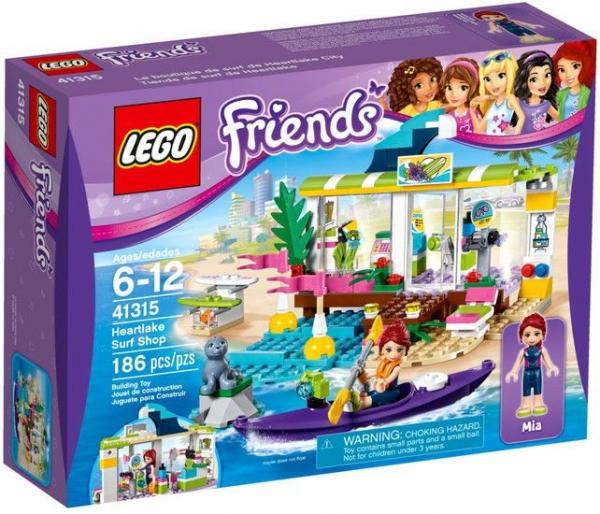 "Конструктор LEGO Friends ""Сёрф-станция"", 186 деталей, арт. 41315"