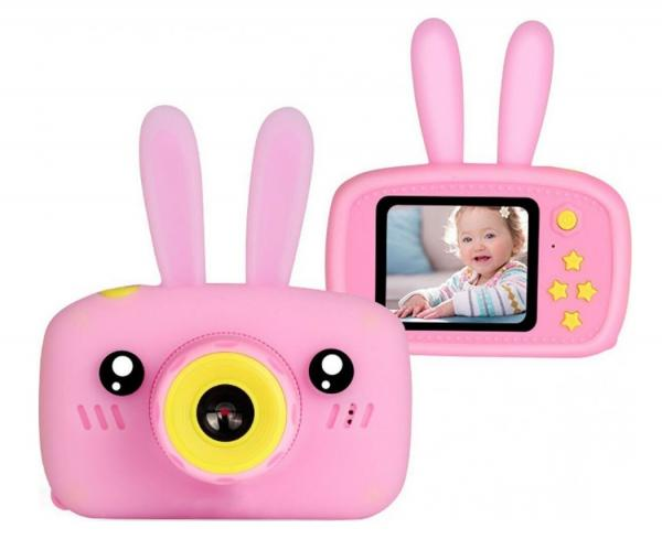 Детский цифровой фотоаппарат Smart Kids Camera Зайка, розовый