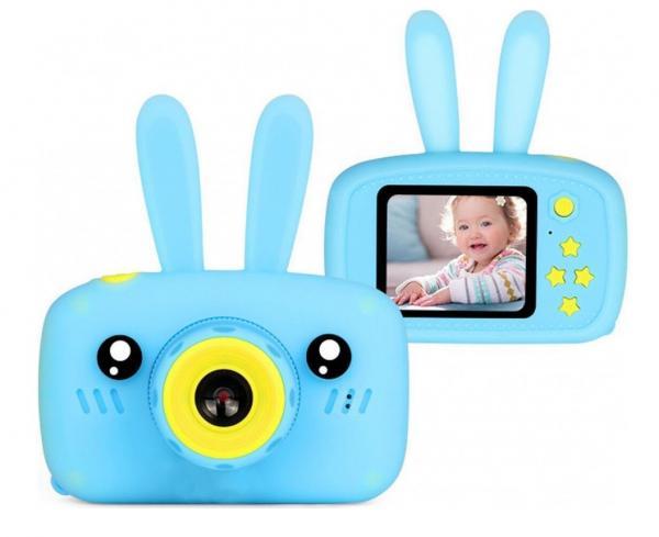 Детский цифровой фотоаппарат Smart Kids Camera Зайка, голубой
