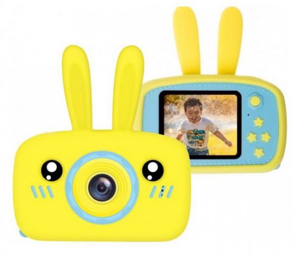 Детский цифровой фотоаппарат Smart Kids Camera Зайка, желто-голубой