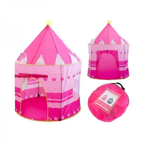Игровой домик палатка Замок, розовая